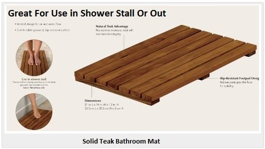 Lovely Teak Bathroom Floor Mat