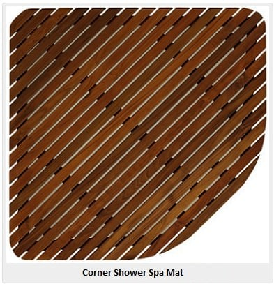 corner shower spa mat