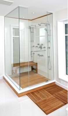 Teak Shower Floor