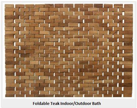 Foldable Teak Indoor Outdoor Bath