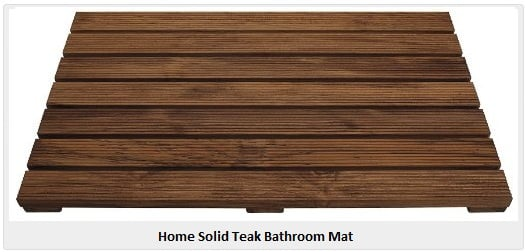 solid teak bathroom mat - Teak Bath Mat