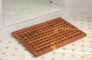 teak shower mats