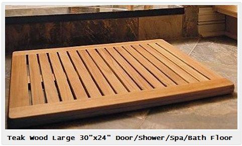 Teak Wood Shower Floor
