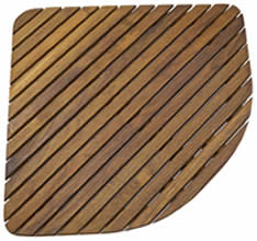 teak shower floor mat