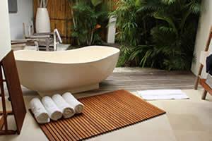 teak shower mat