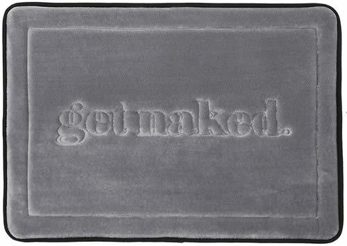 Get naked bath rug