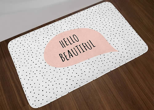 Hello beautiful bath mat